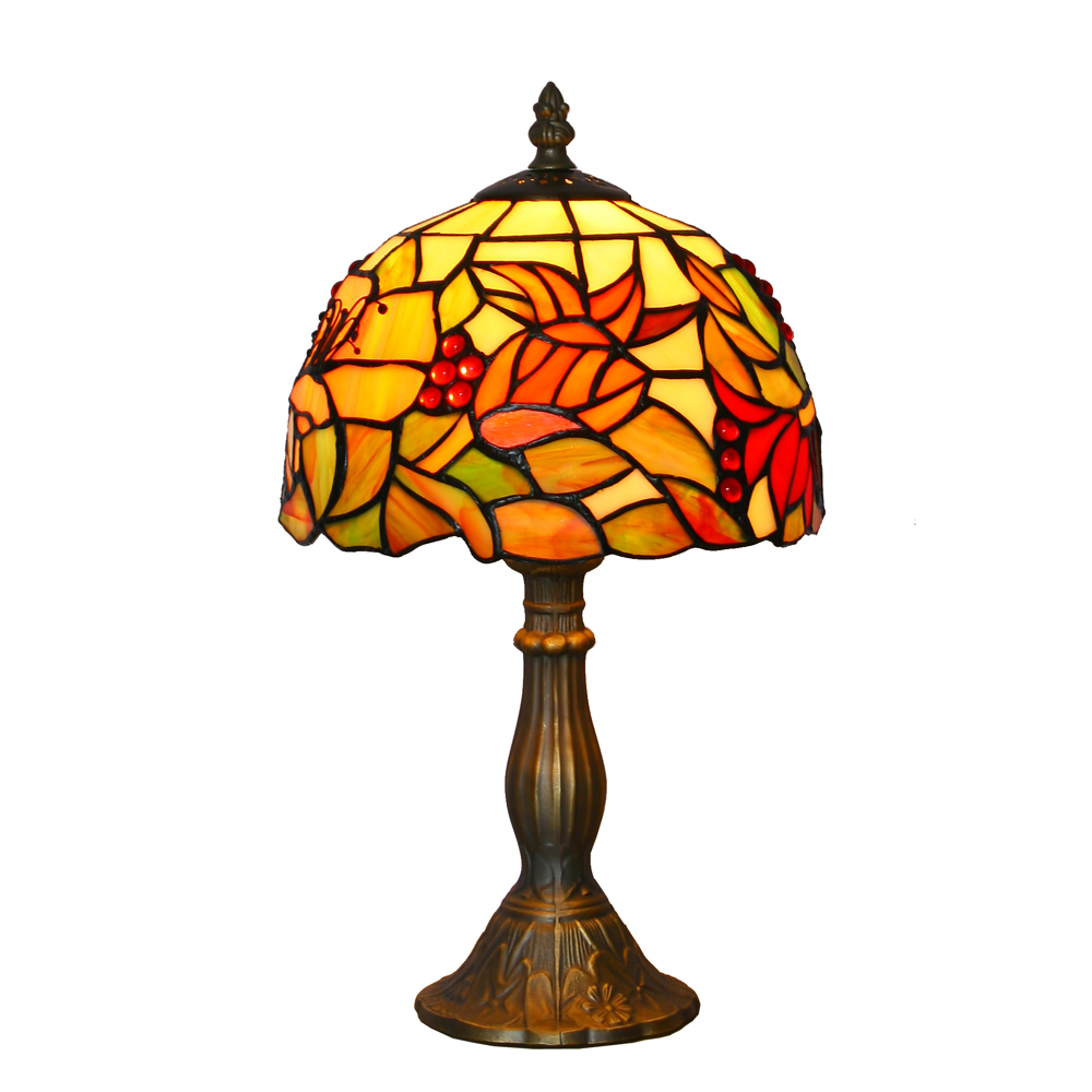 8 Inch Stained Glass Table Lamp Decorative Tiffany Table