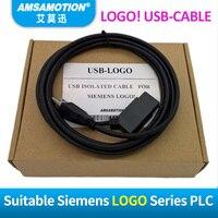 Amsamotion Isolé LOGO Pour Siemens USB-LOGO Série PLC Câble de Programmation PC-LOGO RS232 Câble LOGO PC-CABLE 6ED1057-1AA01-0BA0