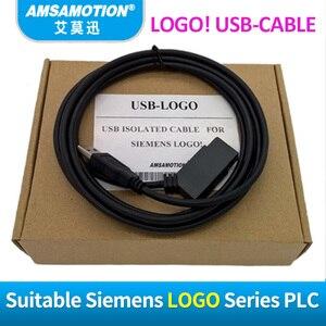 Image 2 - USB LOGO แยกสำหรับ Siemens LOGO Series PLC การเขียนโปรแกรมโลโก้! สาย USB RS232 สายโลโก้ PC CABLE PC 6ED1057 1AA01 0BA0