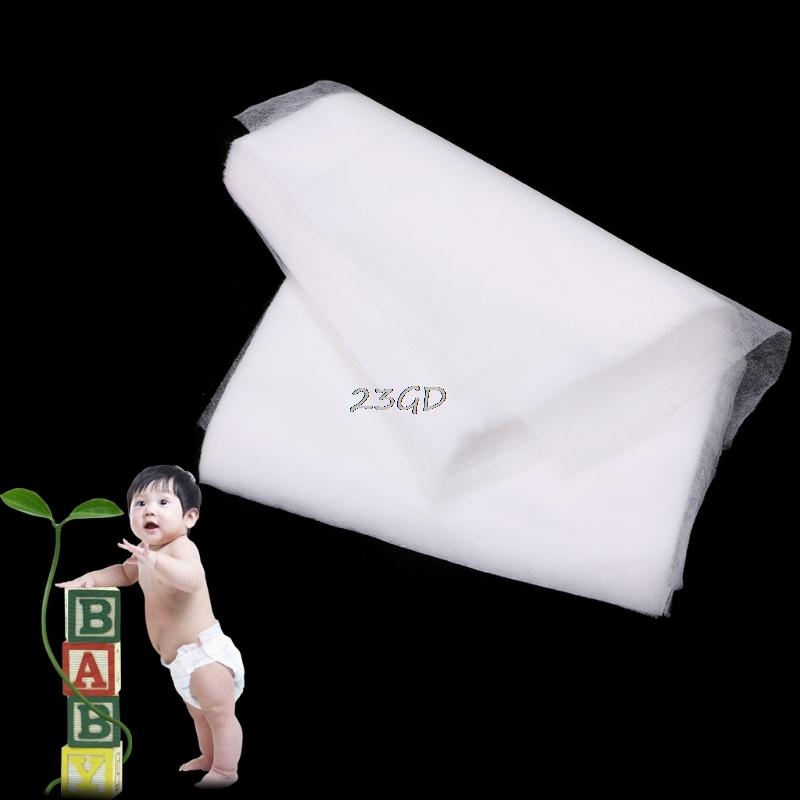 100PCS Preety Baby Disposable Diaper Non-Woven Cloth Nappy Insert Soft Care  Urine Pad Mats