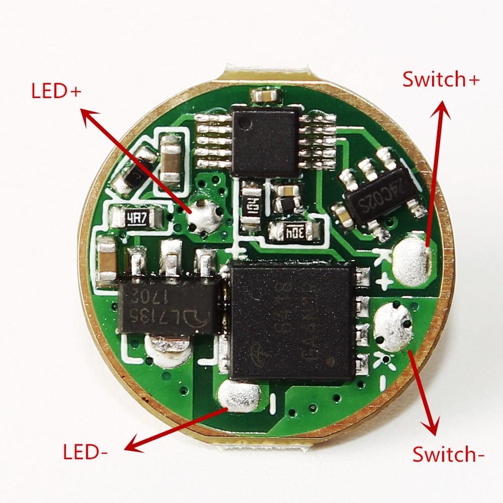 Sofirn Neue C8F Fahrer 4 Gruppen Platine Anti-reverse Led-treiber Chip modus speicher mit draht