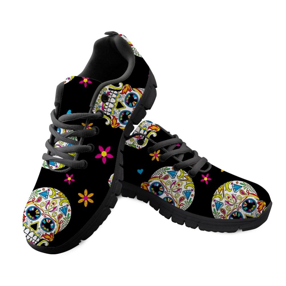 Marche De Forudesigns Feminino Sneakers Casual 2018 Drôle Crâne Baq Lacets Chaussures Plat Noir À Tenis cc2981baq Respirant Femmes Maille cc2982baq Imprimé cc2980baq Customized 4qvx4PpCgw