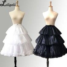 Cosplay enagua falda Negro/Blanco