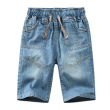 ФОТО 2018 summer fashion baby boys jeans shorts kids teen boy toddler denim short pants 100% cotton high quality children's clothing