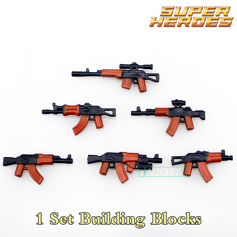 Building Blocks Military Series AK Weapons Cannon Parts Army Police Figures Super Heroes Star Wars Bricks Kids DIY Toys Hobbies single building blocks kits ninja pythor kozu lloyd zane nya figures super heroes star wars model bricks kids toys hobbies x0143