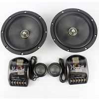 High Quality 290W 6.5inch Car Speaker Sets With Dome Tweeter Speakers And Crossover Divider Vehicle Auto Styling Modified