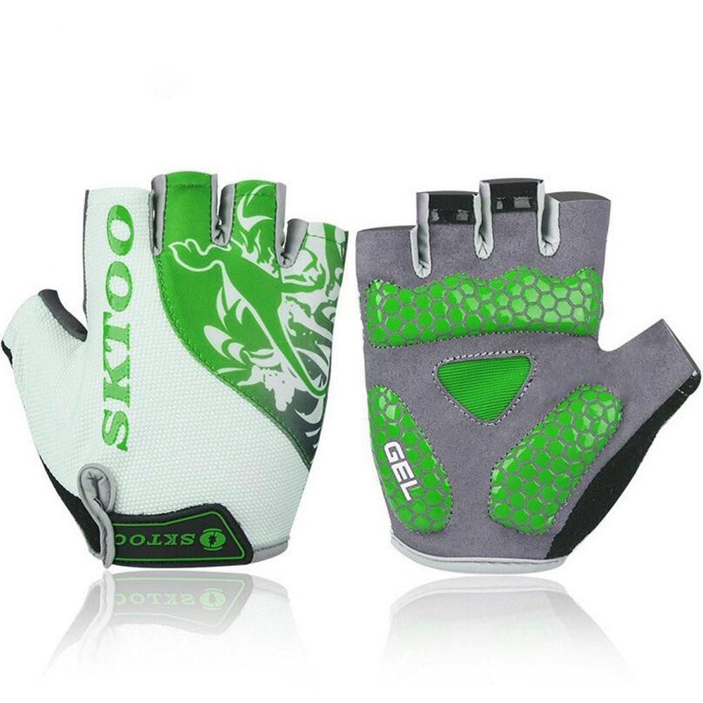 Men Cycling Gloves Non-slip Silicone GEL Anti-slip Mountain Bike Gloves Bicycle Half Finger Gloves