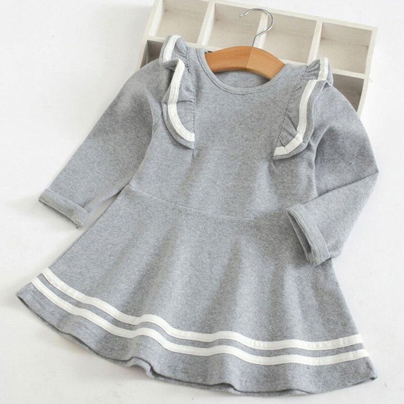 Melario Girls Dresses Fashion Kids Girl Dress Printing Long Sleeve Princess Dress Casual Kids Dresses Floral Children's Clothing