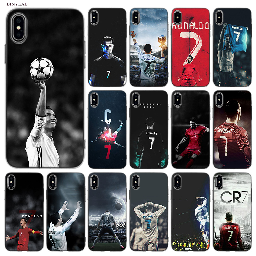 BINYEAE CR7 Cristiano Ronaldo 7 New Soft Styles Design TPU Silicone Case Cover Coque Capa Fundas Shell for Apple iPhone X 10 Ten