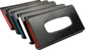 Sun Visor design White Carbon Fiber Leather car tissue case/holder for Ferrari Bentley Masereti Lamborghini