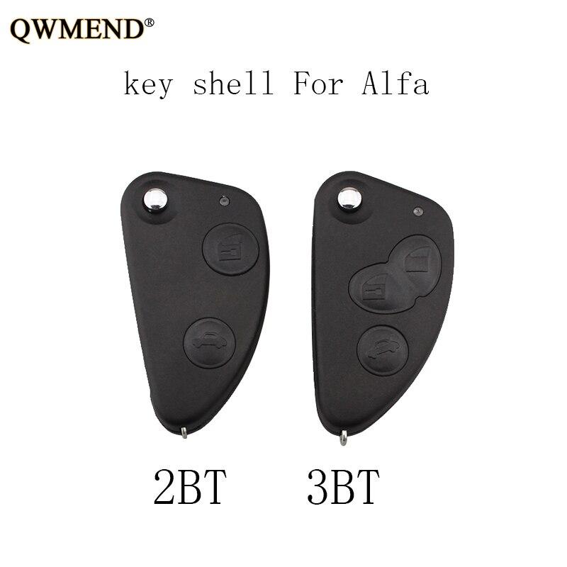 QWMEND Key-Shell Sip22-Blade Alfa Romeo Original Keys 3-Buttons Uncut For 147 156 166
