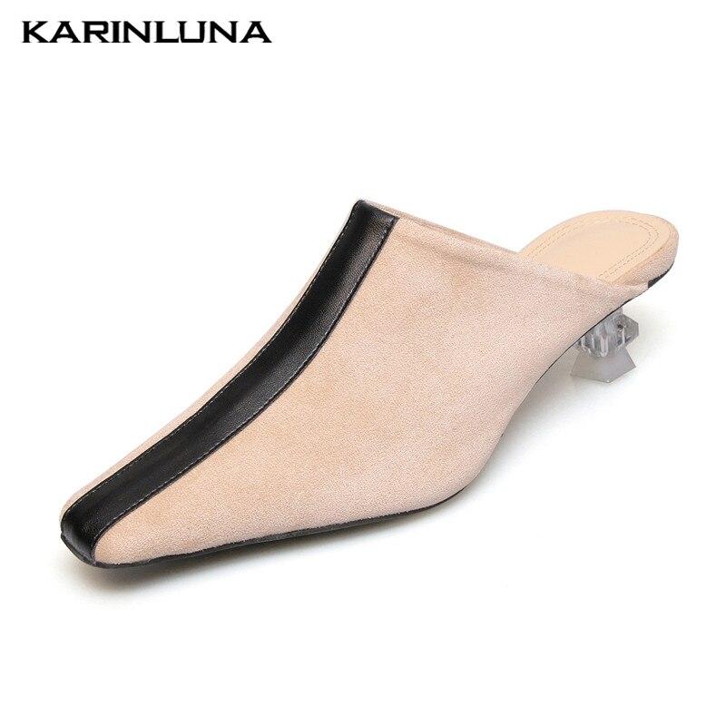 Carré De Chaussures Offre Femme Pompes Karinluna Mule noir Mouton Taille Style Apricot En Étrange 34 Spéciale 40 Peau 2019 Bout Grande 1AAO7dzq