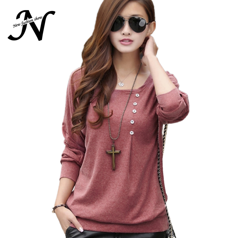 New Fashion 2017 Shirt Women Casual Loose Summer Tops And Blouses O Neck Long Batwing