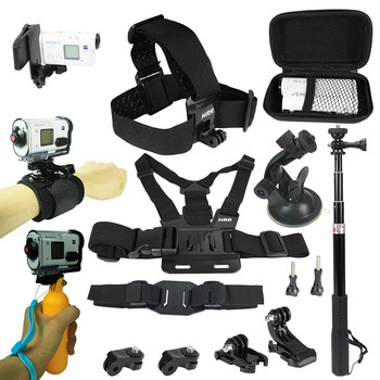 Accessories Kit for Sony Action Camera FDR x3000 Hdr-AS15 AS20 AS30v AS300 AS50 AS200v HDR-Az1Gopro 8 7 6 Sports Camera Holder