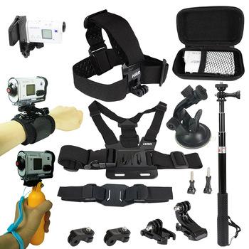 Zestaw akcesoriów dla Sony kamera akcji FDR x3000 Hdr-AS15 AS20 AS30v AS300 AS50 AS200v HDR-Az1Gopro 8 7 6 kamera sportowa uchwyt na tanie i dobre opinie TSCEFTGY S-ER Action Camera Akcesoria Zestawy Aluminium