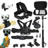 Zestaw akcesoriów dla Sony kamera akcji FDR x3000 Hdr-AS15 AS20 AS30v AS300 AS50 AS200v HDR-Az1Gopro 8 7 6 kamera sportowa uchwyt na