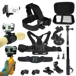 Zestaw akcesoriów dla Sony kamera akcji FDR x3000 Hdr AS15 AS20 AS30v AS300 AS50 AS200v HDR Az1Gopro 8 7 6 kamera sportowa uchwyt na w Etui na kamery sportowe od Elektronika użytkowa na