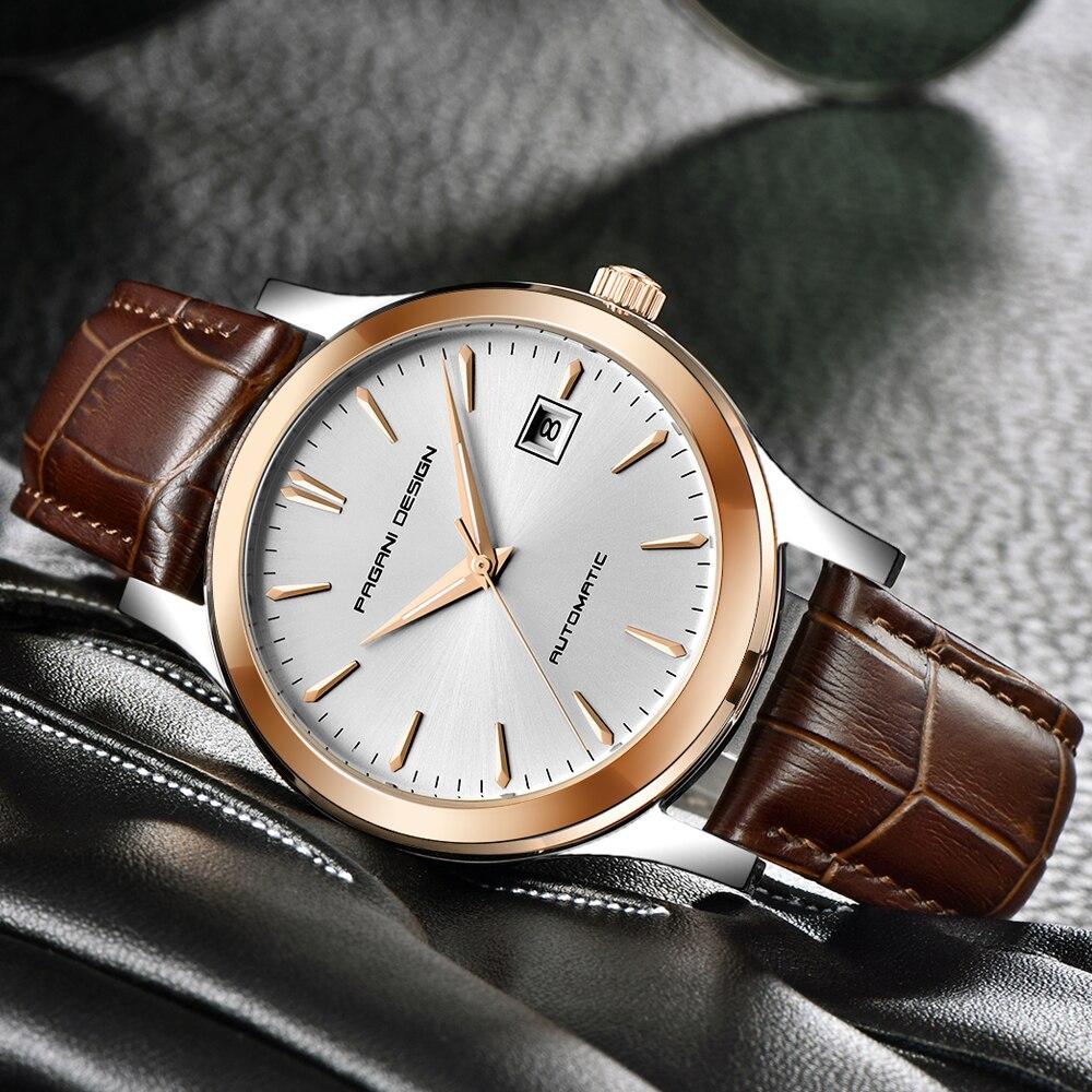 HTB1TaEWKXGWBuNjy0Fbq6z4sXXaR 2019 new Ultra-thin simple classic men mechanical watches business waterproof watch luxury brand genuine leather automatic watch