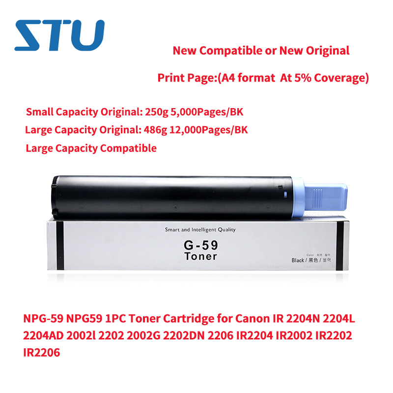 NPG-59 NPG59 1PC New Toner Cartridge for Canon IR 2204N 2204L 2204AD 2002l 2202 2002G 2202DN 2206 IR2204 IR2002 IR2202 IR2206NPG-59 NPG59 1PC New Toner Cartridge for Canon IR 2204N 2204L 2204AD 2002l 2202 2002G 2202DN 2206 IR2204 IR2002 IR2202 IR2206