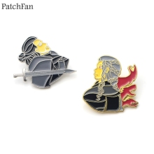 Patchfan game of thrones Zinc alloy tie pins badges para shirt clothes backpack shoes brooches medals decorations A1784