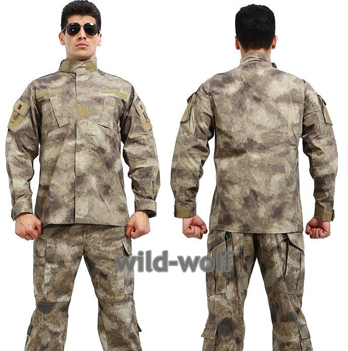 Army Military Jacket Military Field Camouflage Camo  Combat Airsoft Uniform Suit Sets A-tacs