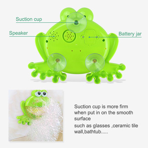 Image 4 - Outdoor Bubble Frog&Crabs Baby Bath Toy Bubble Maker Swimming Bathtub Soap Machine Toys for Children With Music Water Toy