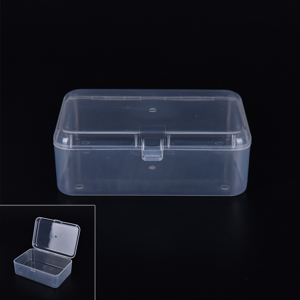 Discreet Small Plastic Transparent With Lid Collection Container Case Storage Box Stationery Holder Superior In Quality