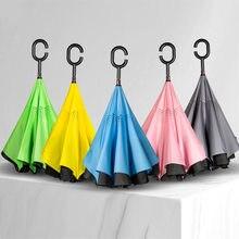2019 new fashion C-handle reverse folding mini umbrella non-automatic male and female beach sun tmallfs moschino women tous