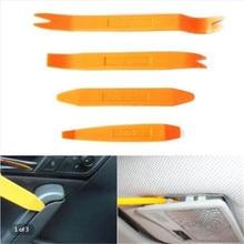 4 adet Set araba radyo kapı klip paneli Trim Dash ses temizleme Installer Pry aracı ses arkadaşı paneli kitleri iç aksesuarları