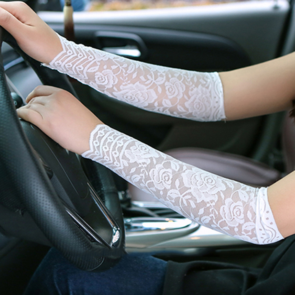 1Pair Women Fashion Summer Lace UV Tattoo Scar Arm Sleeves Cover Sun Protection