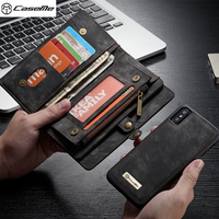 CASEME For Apple IPhone X 10 Case Detachable 2 In 1 Zipper Wallet Split Leather Phone