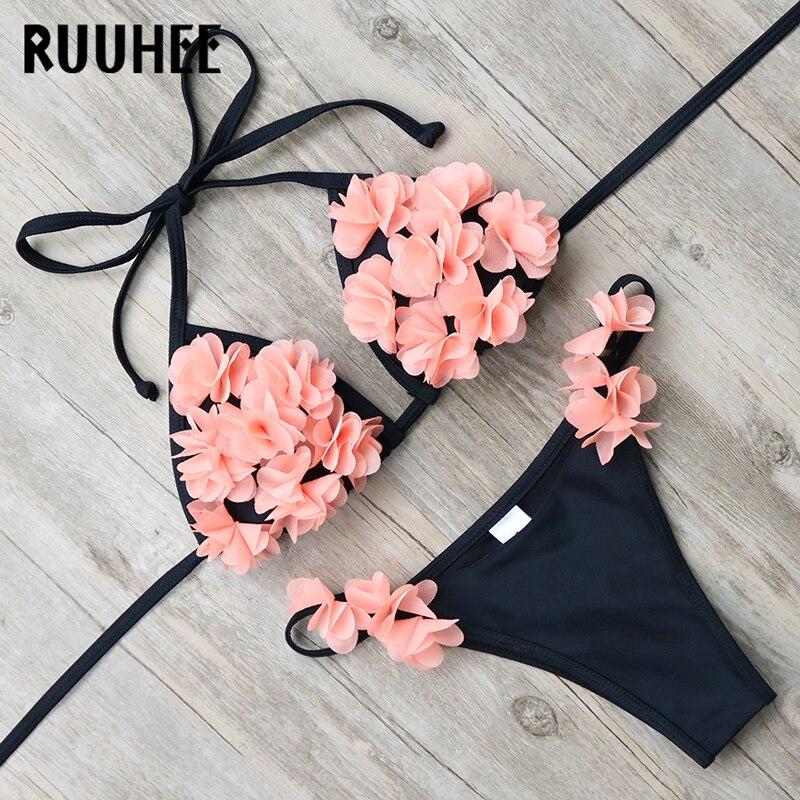 RUUHEE Neue Ankunft Bikini Bademode Badeanzug Frauen Sexy Bikini Set Badeanzug Biquini Push-Up Strand 2017 Maillot De Bain femme