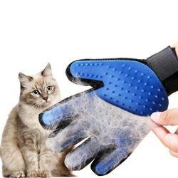 Силиконовая перчатка для кошек вычесывания шерсти домашних животных, расческа для кошек, расческа, уход за шерстью во время линьки, товары