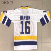 bb8966be3 INDCOLTS Hanson Brothers Charlestown Chiefs  16 Slap Shot Movie Men s Hockey  Jersey White(China