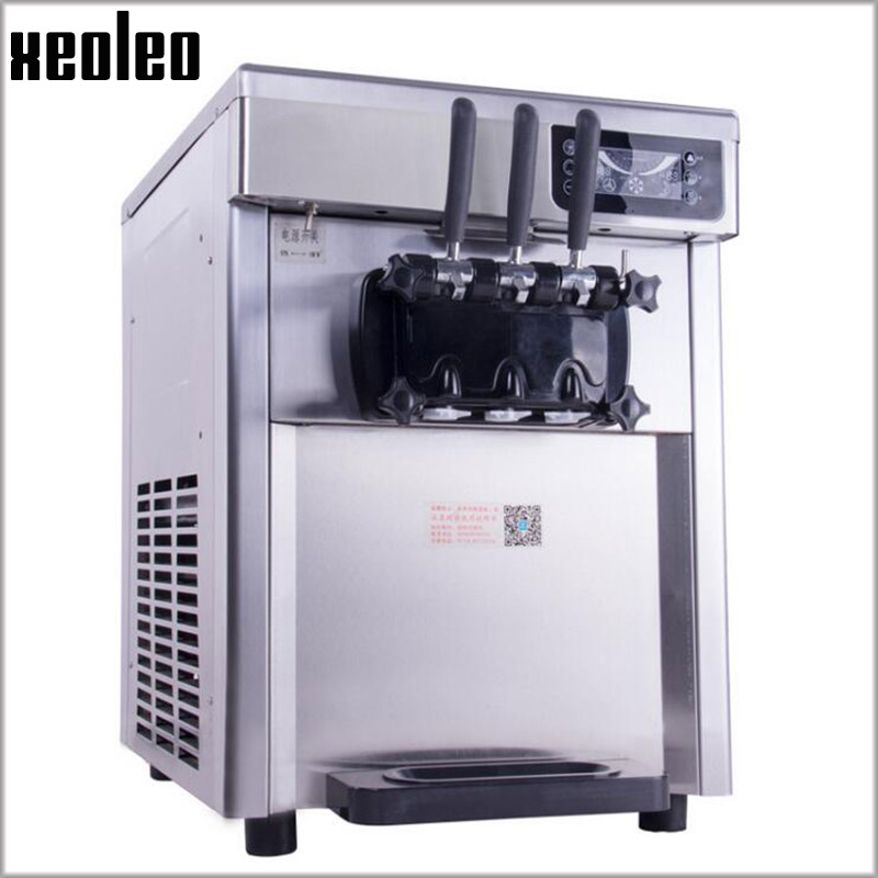 XEOLEO Yogurt Ice cream machine 2300W Commercial Soft Ice cream maker R22 Stainless steel 18-22L/H Yogurt machine xeoleo single flavor ice cream maker soft ice cream machine 18l h 220v 50hz r22 commercial yogurt machine