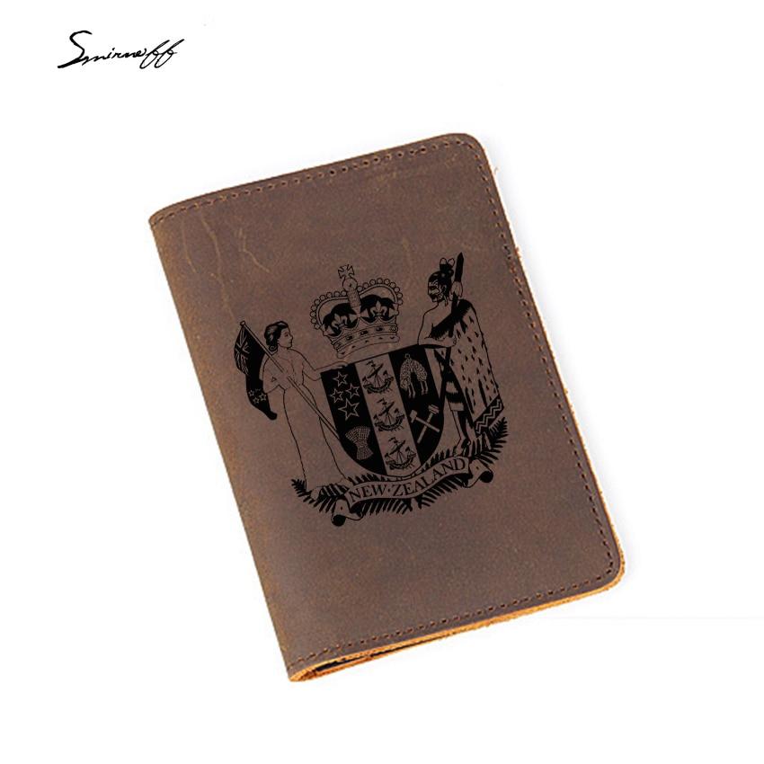 Туристические товары Новой Зеландии Обложка для паспорта простой визитница гравировкой фотографии из коровьей кожи Обложка для паспорта