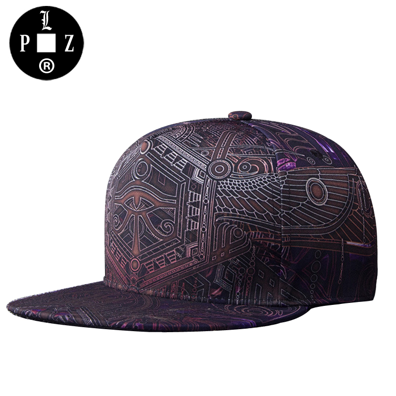 PLZ New Arrival Men Snapback Cap Gothic Punk Hip Hop Baseball Cap Unisex Women Hat 3D Printing Fashion Skater Bboy Flat Caps