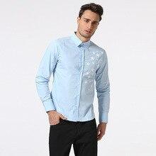 2018 New Mens spring Shirt Lelaki kasual camisa masculina Bercetak baju renang baju lengan panjang pakaian jenama Asia Saiz 2XL