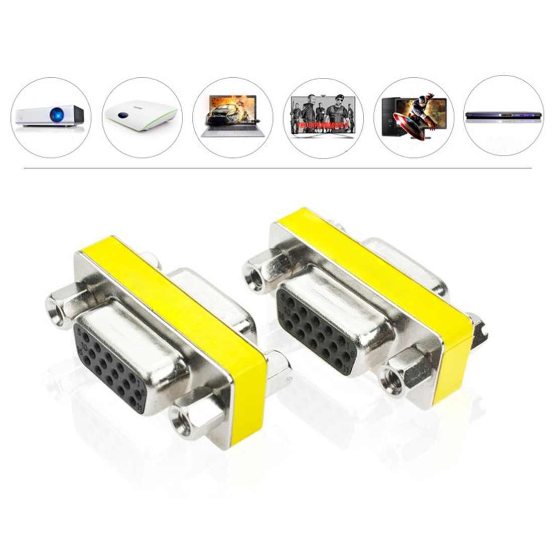 New Hight Quality Female To Female VGA HD15 Pin Gender Changer Converter Adapter VGA Female Adapter