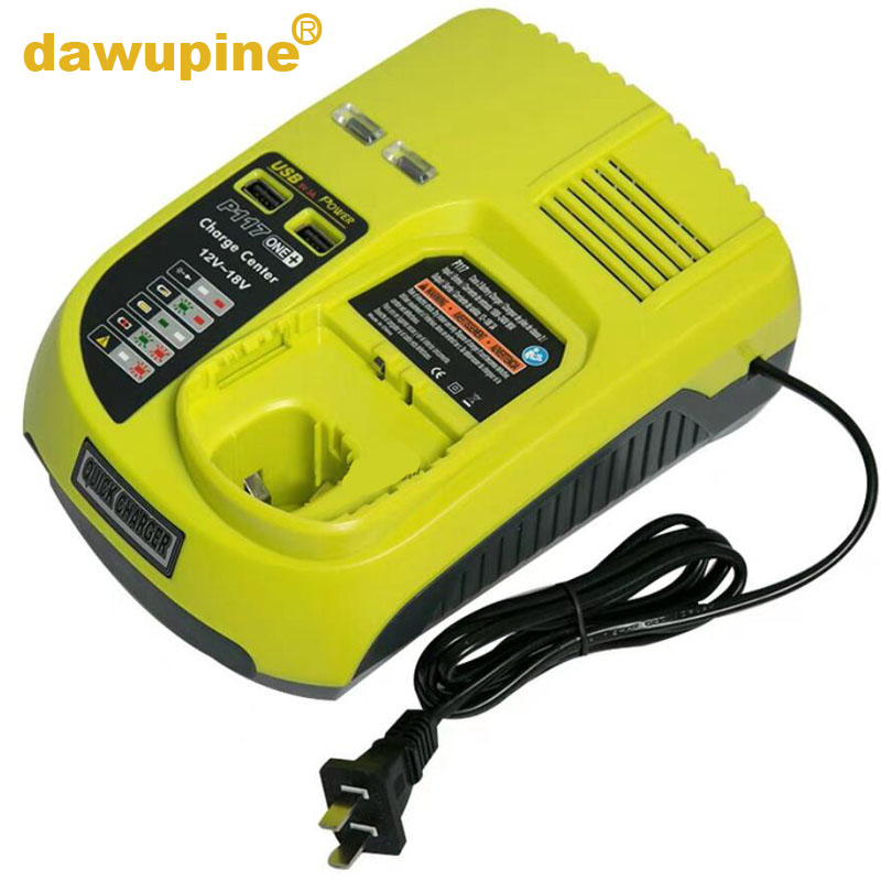 Tool Accessory P117 NI-CD NI-MH Li-ion Battery Charger For RYOBI 12V 14.4V 18V ONE+ Serise Charger P102 P103 P104 P105 P107 P108 18v 5000mah li ion battery for ryobi p108 p107 p106 p105 p104 p103 p102 power tool battery high quality