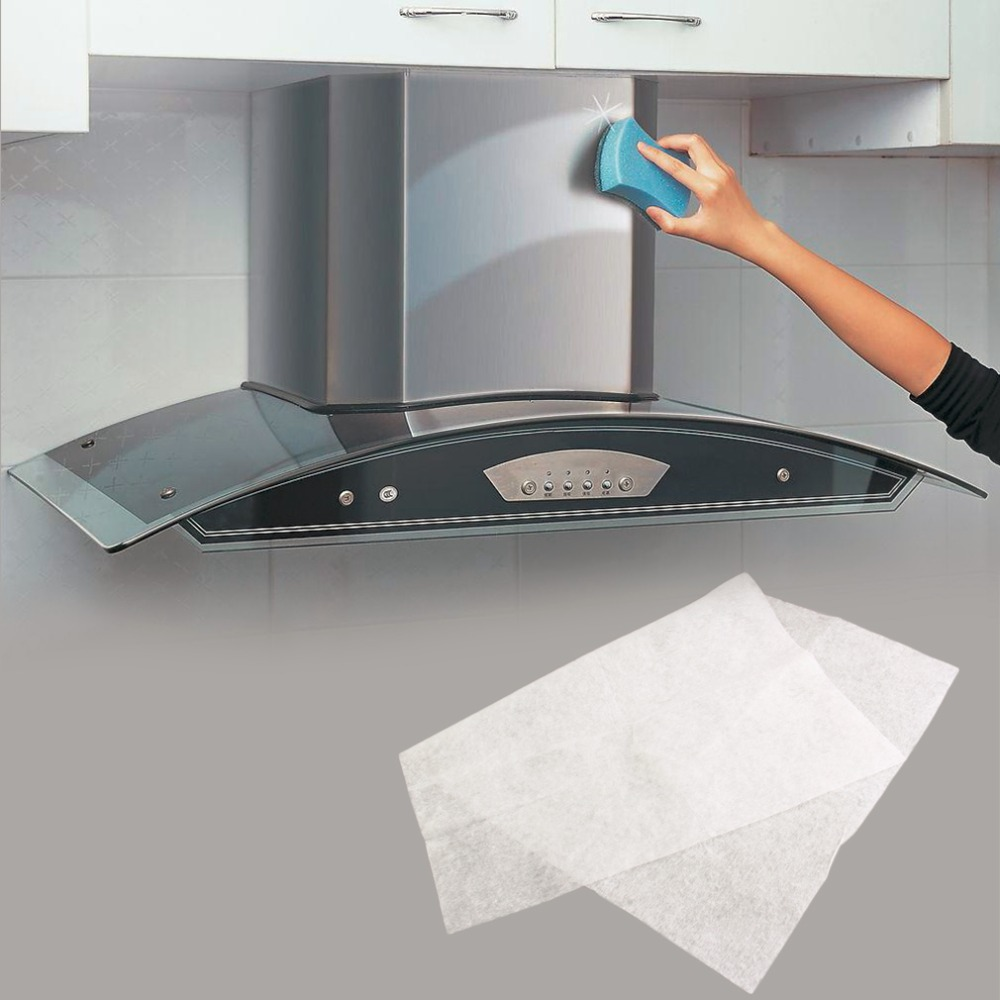Clean Cooking Nonwoven Range Hood Grease Filter Kitchen Supplies Pollution Filter Mesh Range Hood Filter Paper Oil Filter Paper