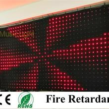 P10 2 м* 4 м P10 RGB светодиодные видео Шторы фон Группа партия этап DJ свадебные светодиодные видео ткань DMX/PC контроллер