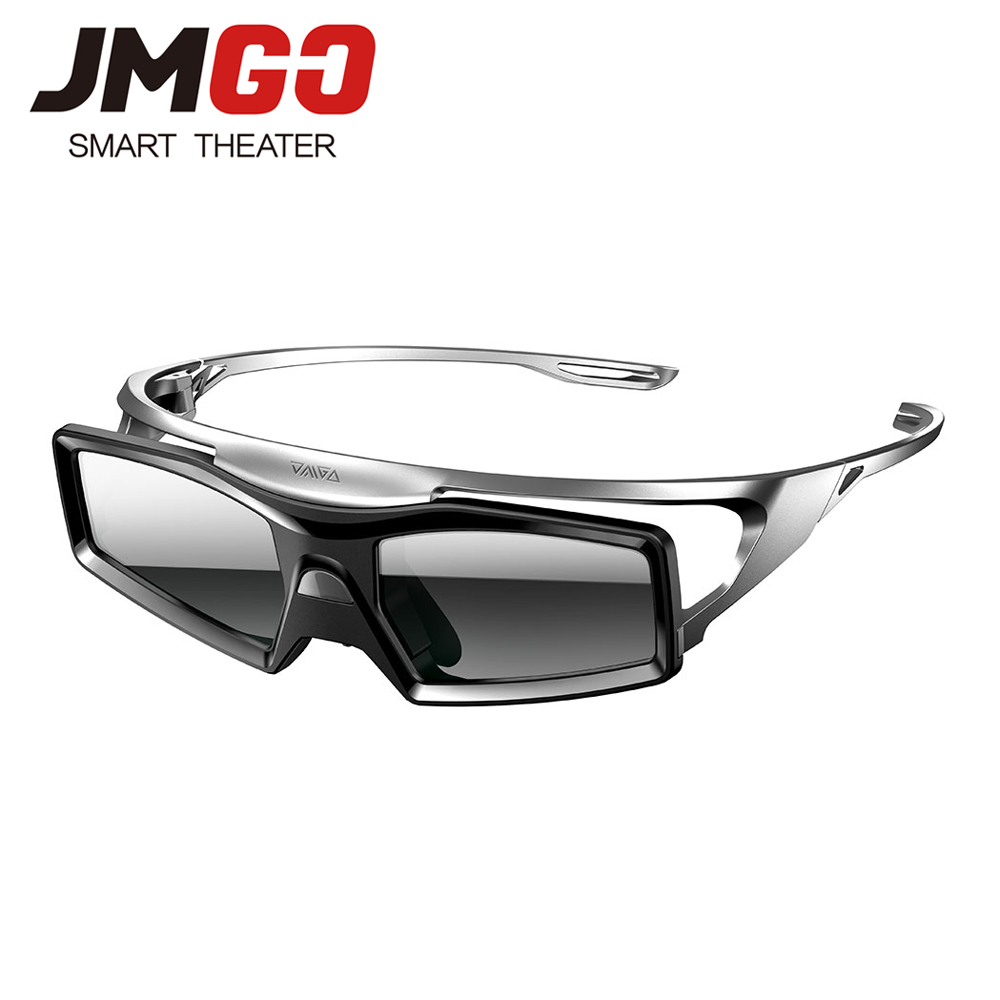 JMGO Original Active Shutter 3D Glasses for JMGO Projector, Built-in Lithium Battery Support DLP LINK sg08 dlp 3d shutter glasses for dlp link projector black