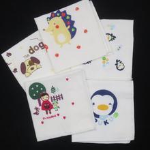 Милые хлопковые детские носовые платки с мультяшным принтом, кружевные носовой платок с цветочным принтом, разные цвета, носовой платок для детей
