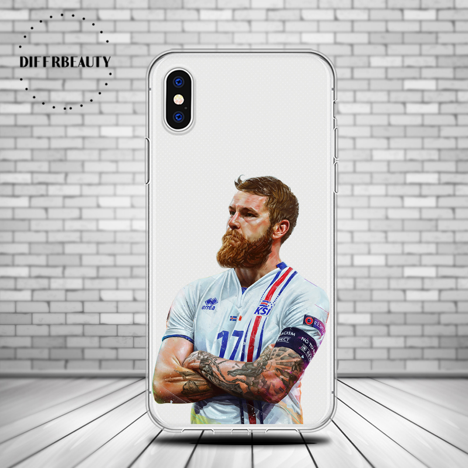 D percept Football Soccer Player Aron Gunnarsson DIFFRBEAUTY Soft TPU Phone Case for 5 5s/6 6s/6 6s plus/7 7plus/ 8 8plus X