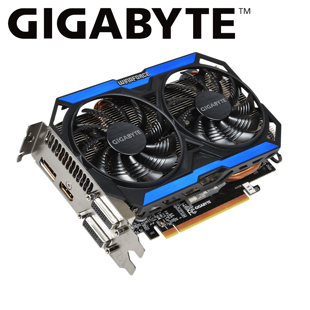 GIGABYTE graphic card Original GTX 960 4GB 128Bit GDDR5 Video Card Powered by NVIDIA GeForce gtx 960 4gb GPU for PC Used Card