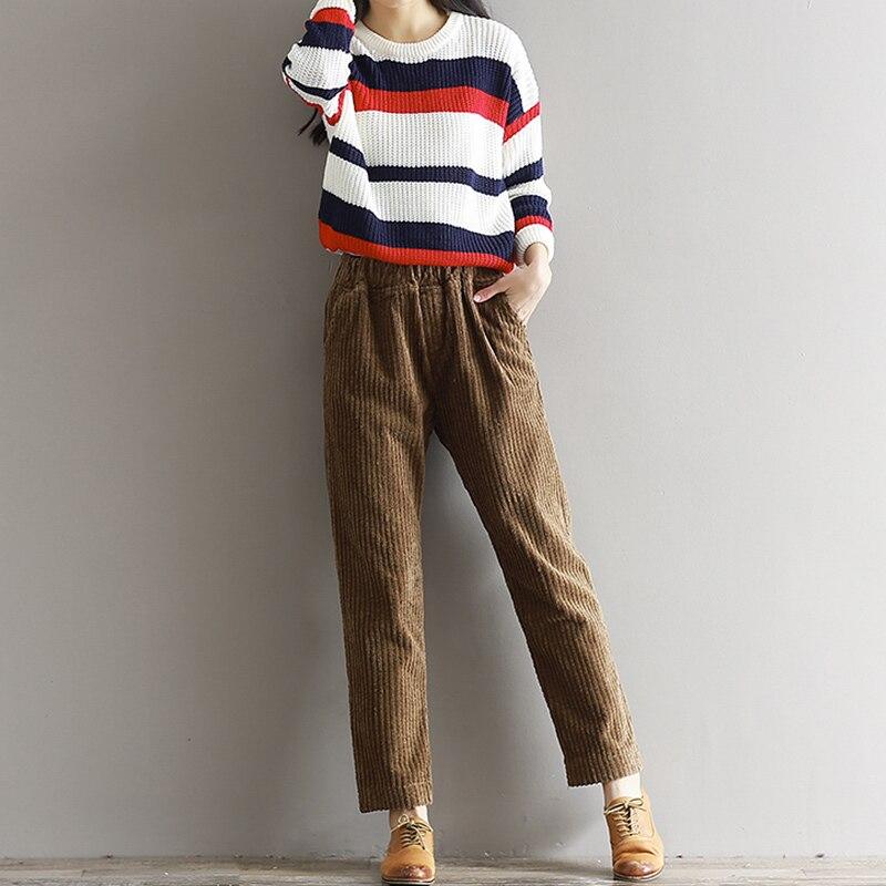 70062f4dede Women s Corduroy Pencil Harem Pants High Waist Vintage Solid Long Trousers  For Women 2019 Spring Autumn Ladies Bottoms Plus Size-in Pants   Capris  from ...