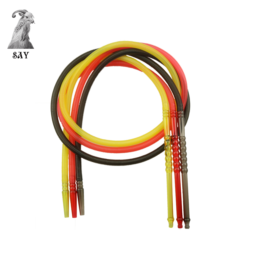 SY 1pc Total Length 1.8M Pageant Colorful Shisha Pipe Long Mouth Pipes Hookah Hose Accessories Plastic Pipe