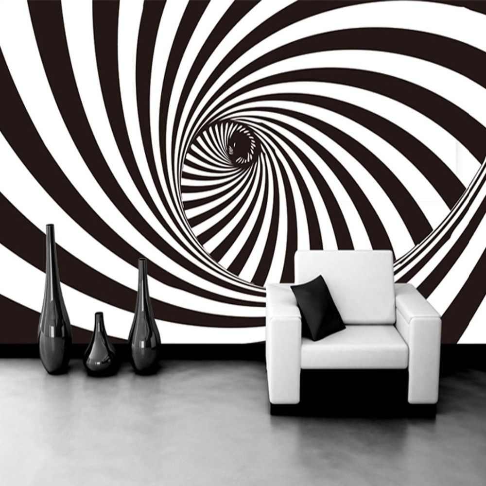 Custom Photo Wallpaper Modern 3D Abstract Living Room Wallpaper 3D Wall  Mural Zebra Lines Backdrop Wall Covering Wallpaper Decor