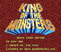 King of The Monsters  - Rampage Edition - 16 bit MD Games Cartridge For MegaDrive Genesis console
